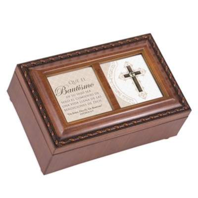 El Bautismo de su hijo caja de musica, sublime gracia (May Your Child's Baptism Music Box)  -