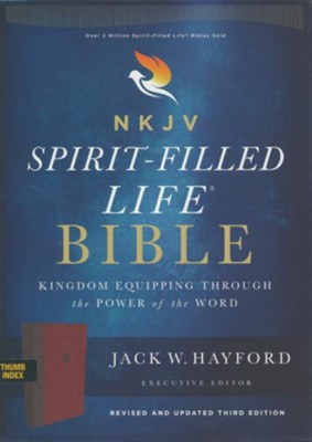 NKJV Comfort Print Spirit-Filled Life Bible, Third Edition, Imitation Leather, Burgundy, Indexed  -     By: Jack Hayford