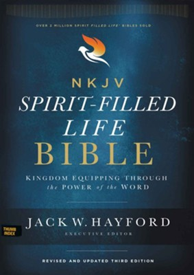 NKJV Comfort Print Spirit-Filled Life Bible, Third Edition, Genuine Leather, Black Indexed  -     By: Jack W. Hayford