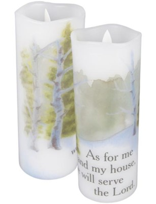 As For Me and My House We Will Serve the Lord Flameless LED Candle  -