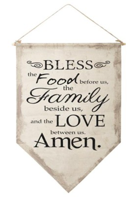 Bless the Food Before Us Banner  -
