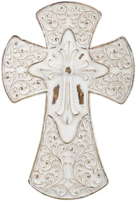 Triple Cross Wall Cross, White  -