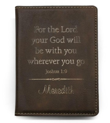 Personalized, Passport Holder, Leather, Brown   -