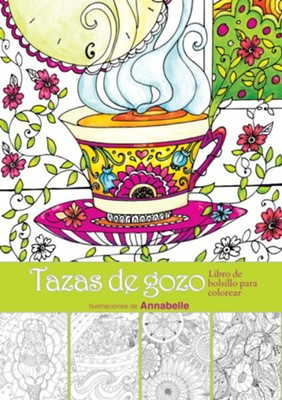 Tazas de gozo: Libro de bolsillo para colorear  (Cups of Joy: Pocket Coloring Book)  -