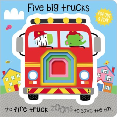 Five Big Trucks Boardbook  -