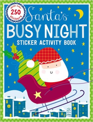 Sticker Activity Books Santa's Busy Night Bind Up  -