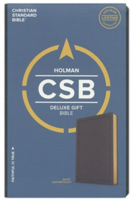CSB Deluxe Gift Bible--soft leather-look, black  -