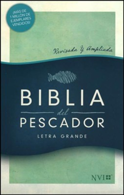 NVI Biblia del Pescador letra grande, verde s&#237mil piel (Fisher of Men Large Print Bible, Green LeatherTouch)   -     Edited By: Luis &#193ngel D&#237az-Pab&#243n