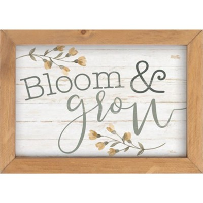 Bloom and Grow Framed Art  -