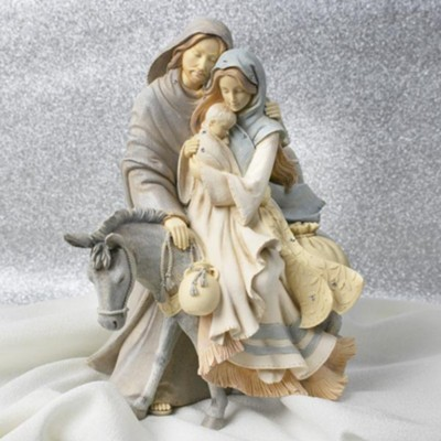Foundations, Holy Family with Donkey Figurine  -     By: Karen Hahn