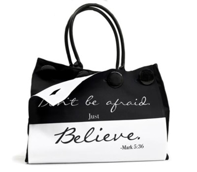 Don't Be Afraid, Button Up Tote  -