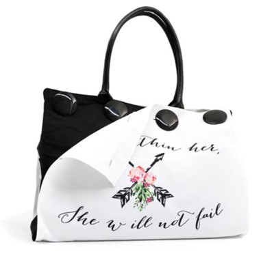 God is Within Her, Button Up Tote  -