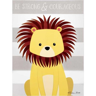 Be Strong and Courageous, Lion, Plaque  -