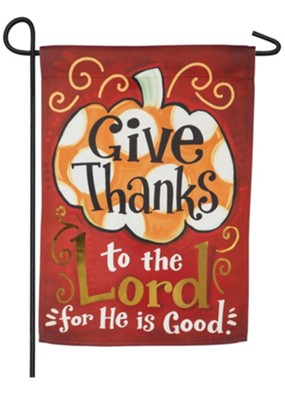 Give Thanks to the Lord Suede Flag, Small  -
