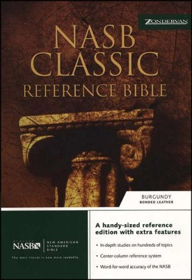NAS Classic Reference Bible, Bonded Leather Burgundy   -