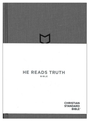 CSB He Reads Truth Bible, Pewter Cloth Over Board, Hardcover with Dust Jacket  -