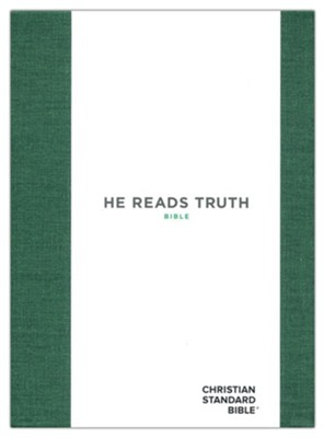 CSB He Reads Truth Bible, Green Cloth Over Board  -     By: Raechel Myers, Amanda Bible Williams