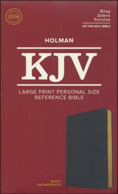 KJV Large Print Personal Size Reference Bible, Black Leathertouch Imitation Leather  -