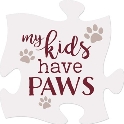 My Kids Have Paws Puzzle Art  -