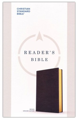 CSB Reader's Bible--genuine leather, brown  -