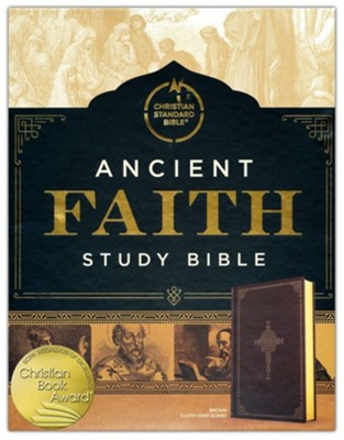 CSB Ancient Faith Study Bible--hardcover, brown  -