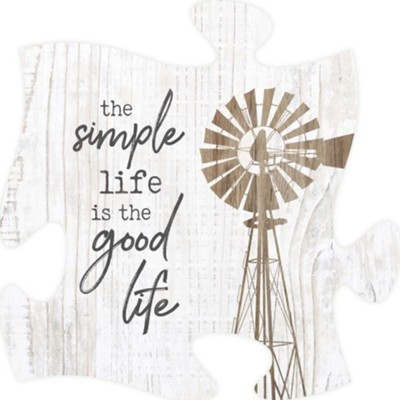 The Simple Life Is The Good Life Puzzle Art  -