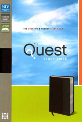 NIV Quest Study Bible: The Question and Answer Bible, Imitation Leather, Brown Gray  -