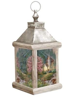 House of the Lord, Fiber Optic Lantern  -     By: Dona Gelsinger