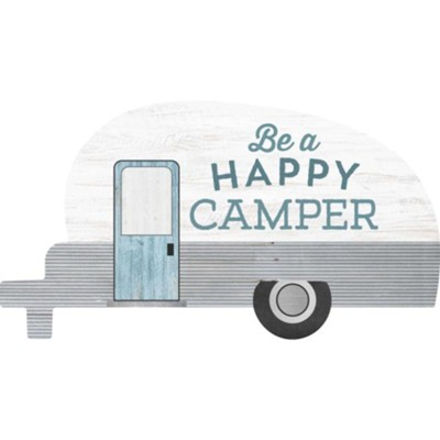 Be A Happy Camper, Camper Shaped Art  -