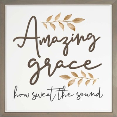 Amazing Grace How Sweet the Sound Carved Framed, Wall Decor  -