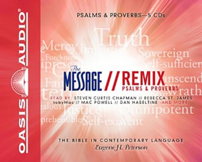 Message Remix Psalms and Proverbs - Unabridged Audiobook on CD  -     By: Eugene H. Peterson