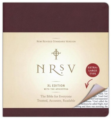 NRSV XL Bible with the Apocrypha, Imitation Leather,  burgundy  -