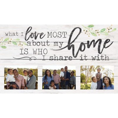What I Love Most About My Home Is Who I Share It With, Photo Frame  -