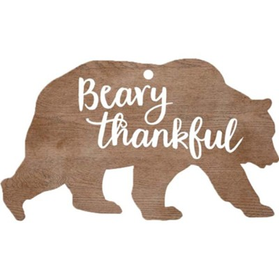 Beary Thankful, Gift Tag  -