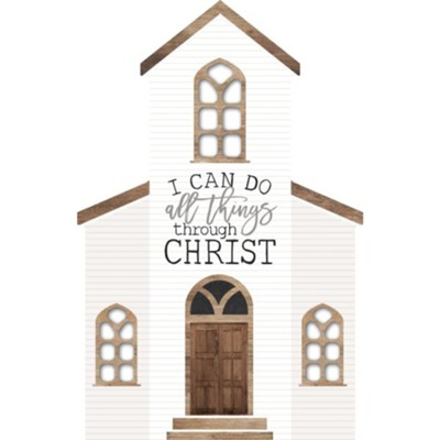 I Can Do All Things Through Christ, Shaped Art  -