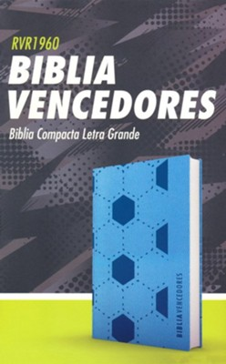RVR 1960 Biblia vencedores, azul smil piel, RVR 1960 Champion's Bible--soft leather-look, blue  -