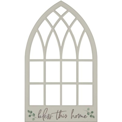 Bless This Home Carved, Wall Art, Window  -
