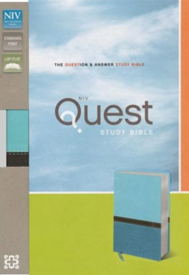 NIV Quest Study Bible: The Question and Answer Bible, Imitation Leather, Turquoise Caribbean Blue  -