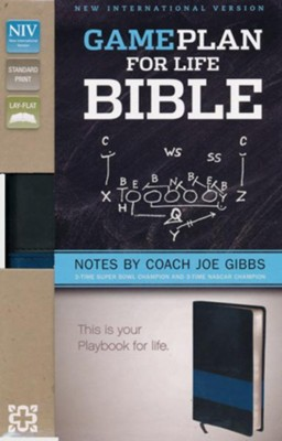 The Game Plan for Life Bible, NIV: Notes by Joe Gibbs, Imitation Leather, Black, Deluxe Edition  -     By: Joe Gibbs