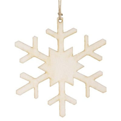 Unfinished Wood Snowflake Ornament  -
