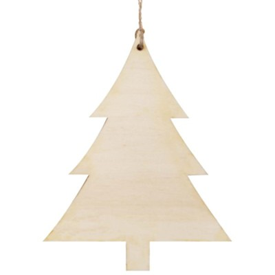 Unfinished Wood Christmas Tree Ornament, 3.75 X 4.75  -