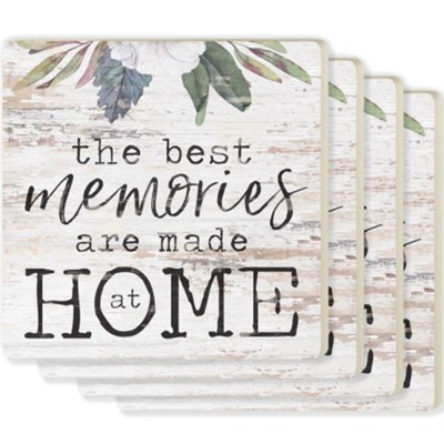 The Best Memories Are Made At Home Coasters, Set of 4  -