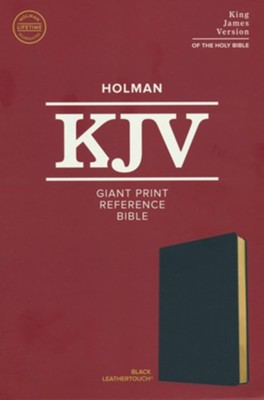 KJV Giant-Print Reference Bible--soft leather-look, black  -