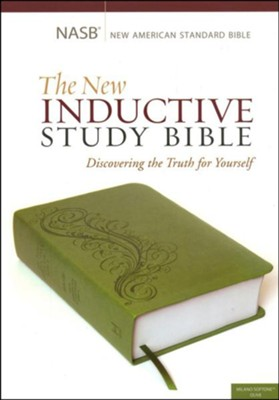 The NASB New Inductive Study Bible, Milano Softone, Green  -     By: Precept Ministries International