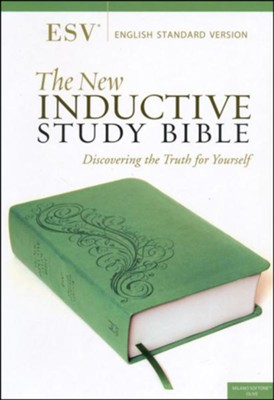 The ESV New Inductive Study Bible, Milano Softone, Green  -