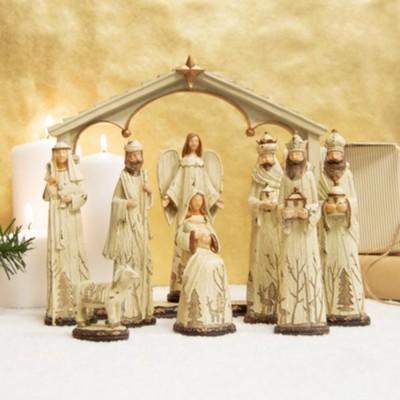 Woodland Nature Nativity Set 9 Pieces