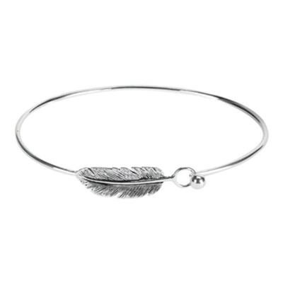 Angel Feather Bangle Bracelet with Card  -