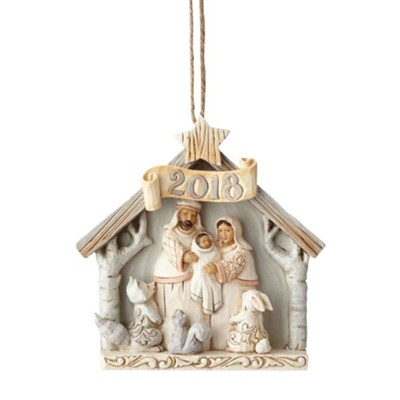 Heartwood Creek, 2018 Woodland Nativity Ornament  -     By: Jim Shore