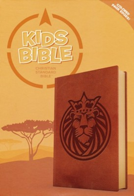 CSB Kids Bible--soft leather-look, brown with lion  -
