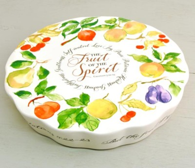 Fruit of the Spirit Dessert Serving Plate   -